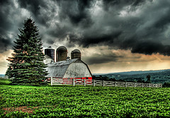 The Barn in the Storm by Stuck in Customs